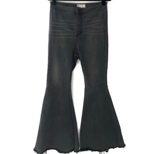 Free People Float On Extreme Flare Jeans Dark Grey